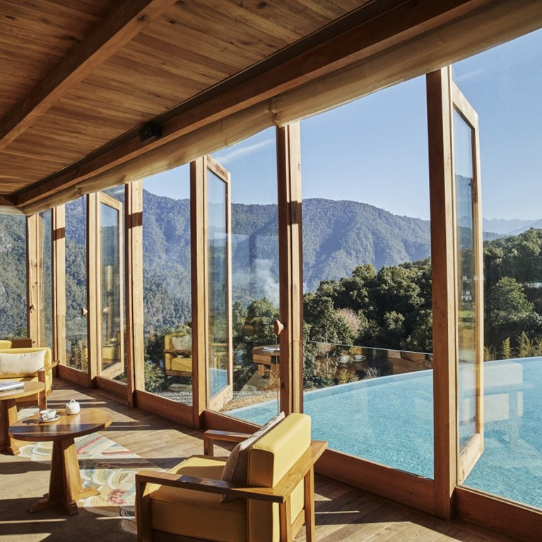 Punakha Flying Farmhouse Interior With Pool View [9284 LARGE]