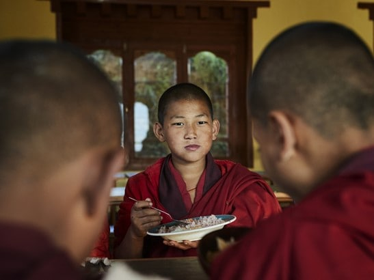 Punakha Chorten Ningpo Breakfast With Monks [ LARGE]