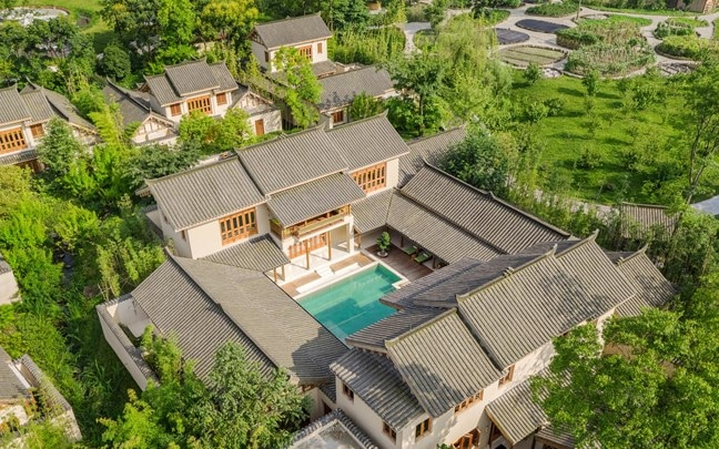 Qing Cheng Mountain China Presidential Villa aerial