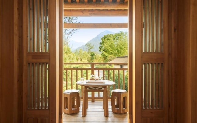 Qing Cheng Mountain China Six Senses Deluxe Suite view