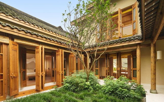 Qing Cheng Mountain China Two Bedroom Courtyard Villa