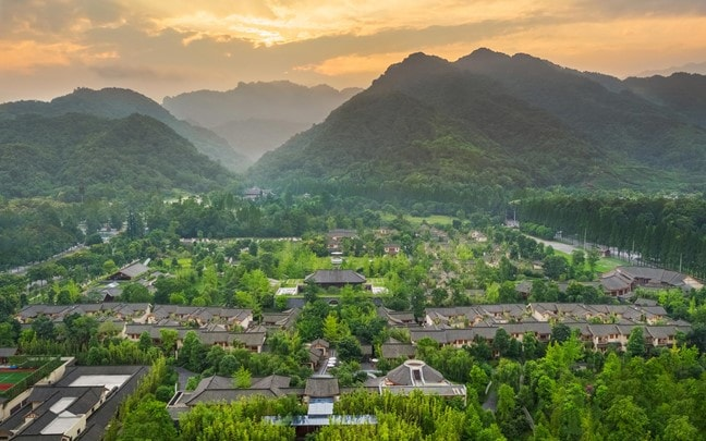 Qing Cheng Mountain China Six Senses Qing Cheng Mountain aerial_