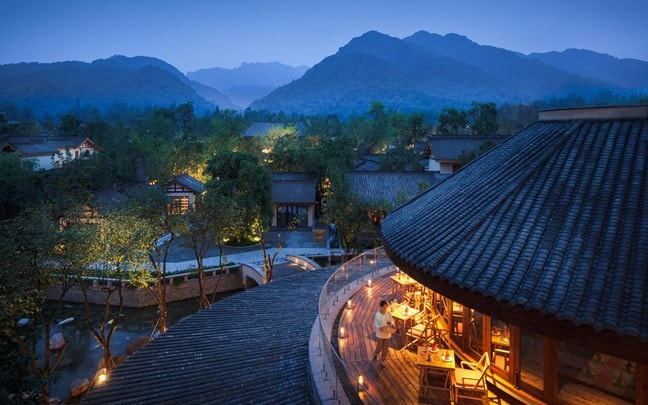 Qing Cheng Mountain China Sala Thai view at night