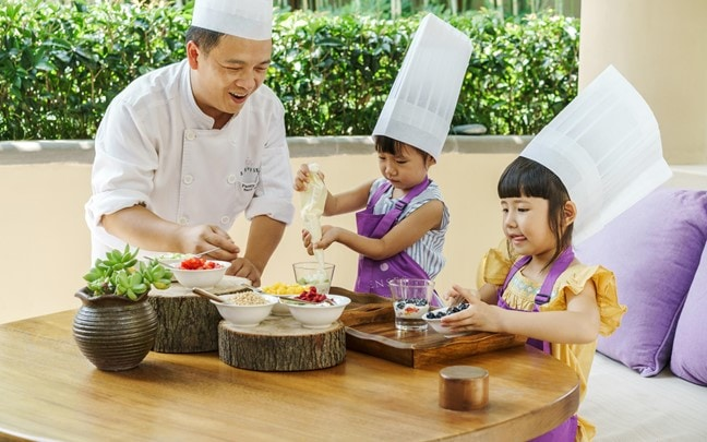 Qing Cheng Mountain China Kids cooking class