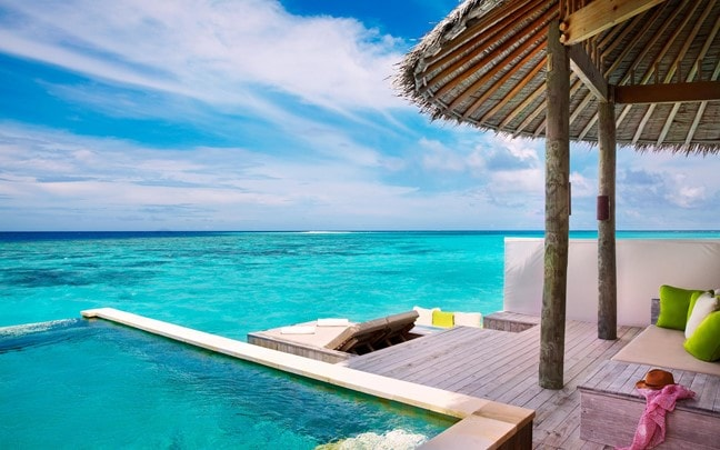 Laamu Maldives Laamu Water Villa with Pool deck