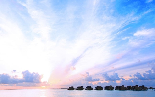 Laamu Maldives Water Villa Sunset