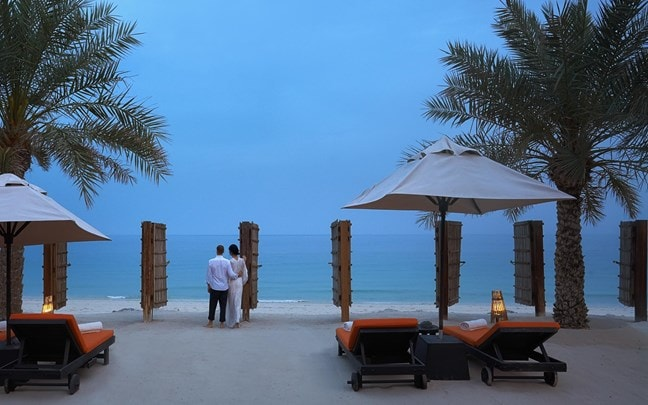 Zighy Bay Oman Four Bedroom Beachfront Reserve couple