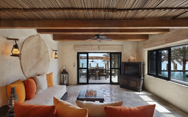 Zighy Bay Oman Four Bedroom Beachfront Reserve living room