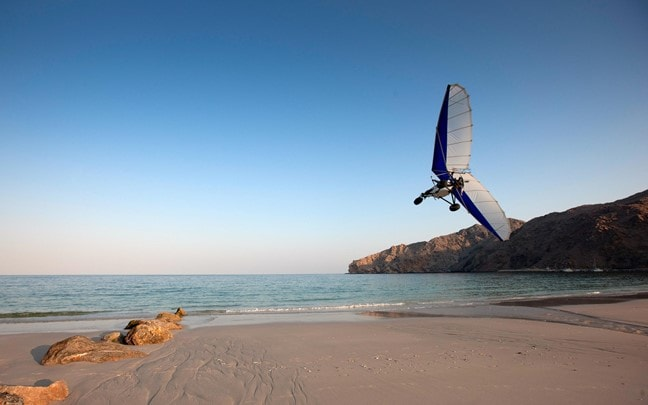 Zighy Bay Oman Microlight