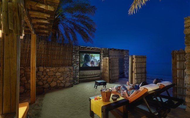 Zighy Bay Oman Private In Villa Cinema Paradiso
