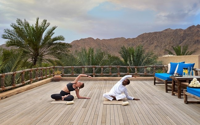 Zighy Bay Oman Yoga at spa