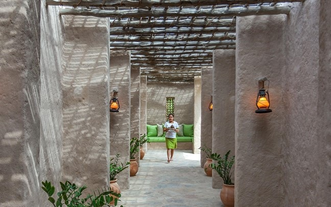 Zighy Bay Oman Spa entrance