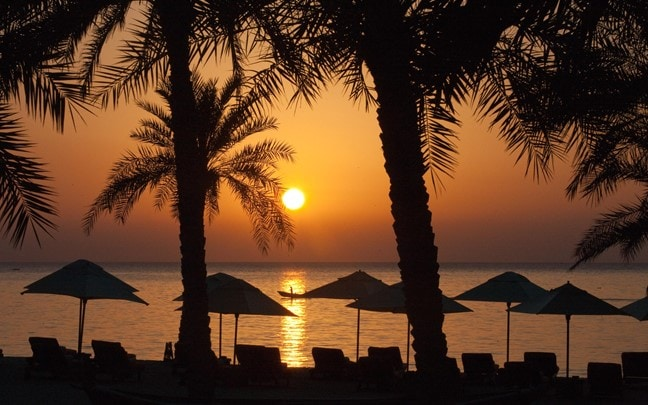 Zighy Bay Oman Sunrise on the beach