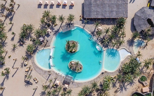 Zighy Bay Oman Salt Water Pool aerial