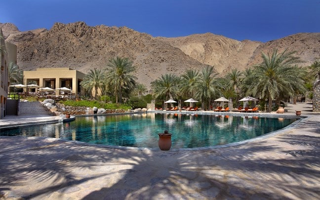 Zighy Bay Oman Main pool