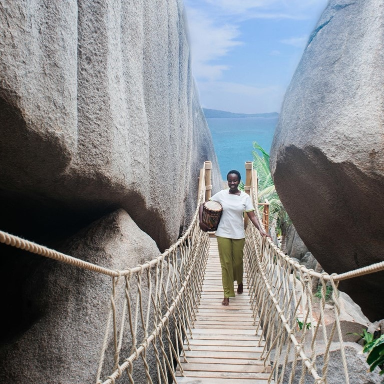 Six Senses Spa Rope Bridge