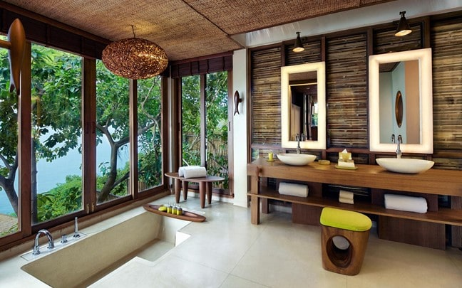 Samui Thailand Ocean Front Pool Villa Suite bathroom