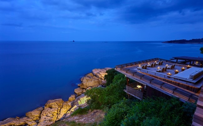 Samui Thailand Dining on the Rocks