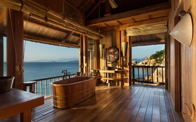 Ninh Van Bay Vietnam Rock Pool Villa bathroom