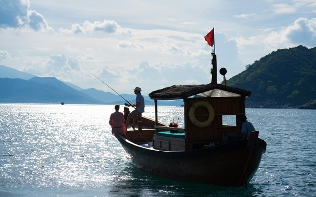 Ninh Van Bay Vietnam Fishing in the bay