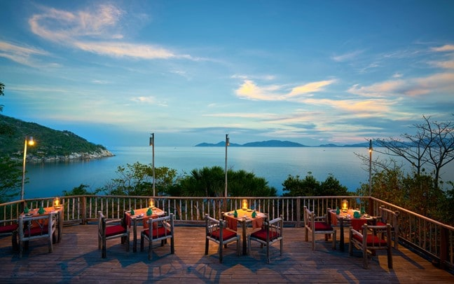 Ninh Van Bay Vietnam Dining by the Rocks
