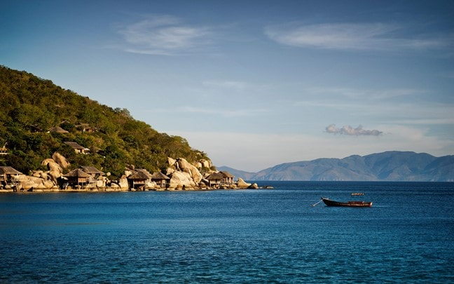 Ninh Van Bay Vietnam Six Senses Ninh Van Bay from distance