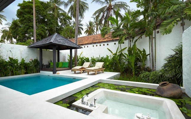 Hua Hin Thailand Evason Pool Villa outdoor area
