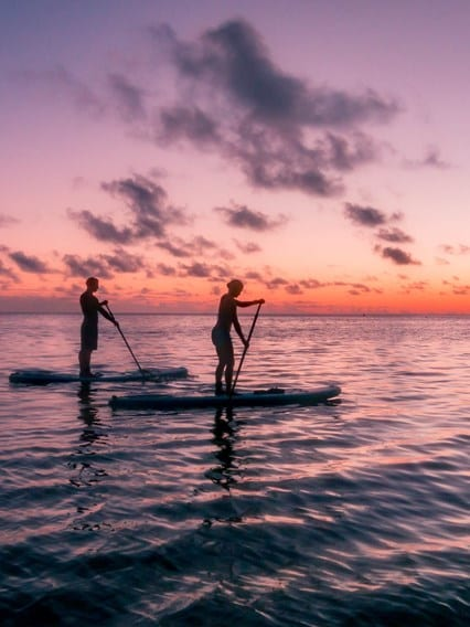 Nighttime Stand-Up Paddleboarding