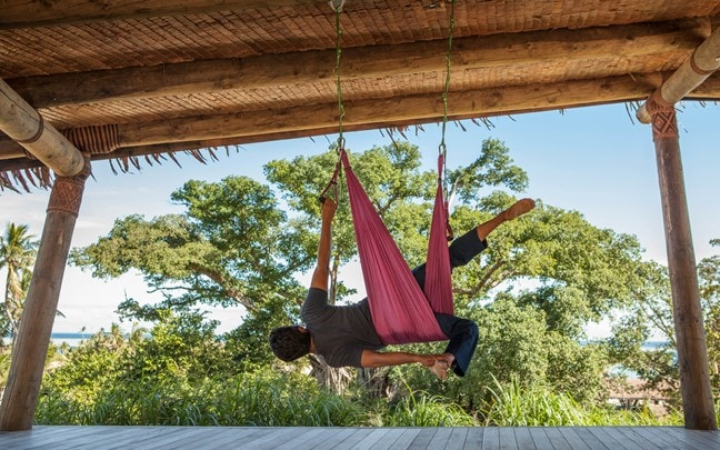 Fiji Aerial Yoga at the Yoga Pavilion