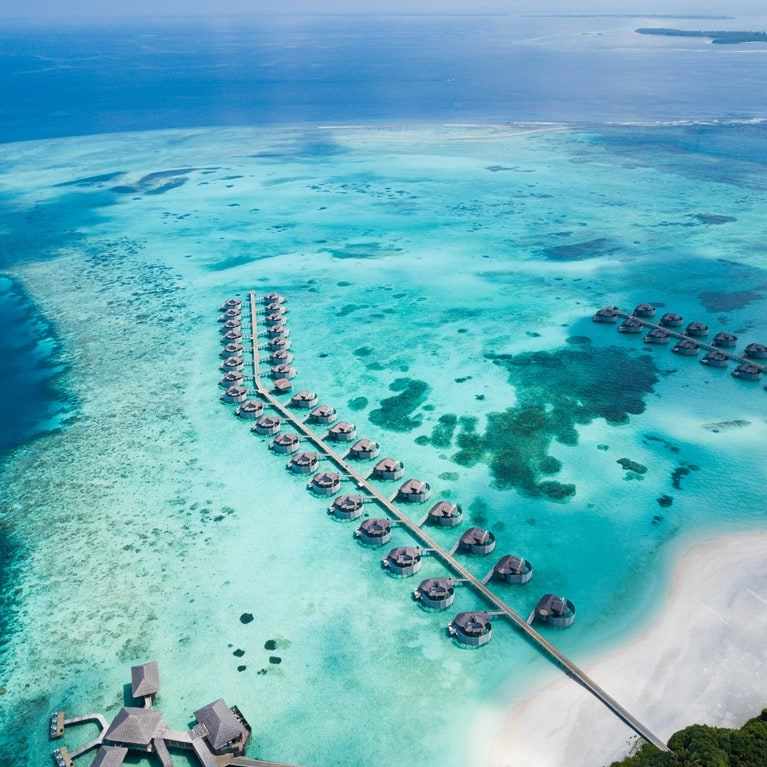 Six Senses Laamu Villas Drone
