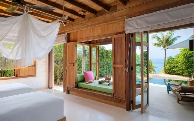 Ninh_Van_Bay_Vietnam_Beachfront_Pool_Villa _twin_bed