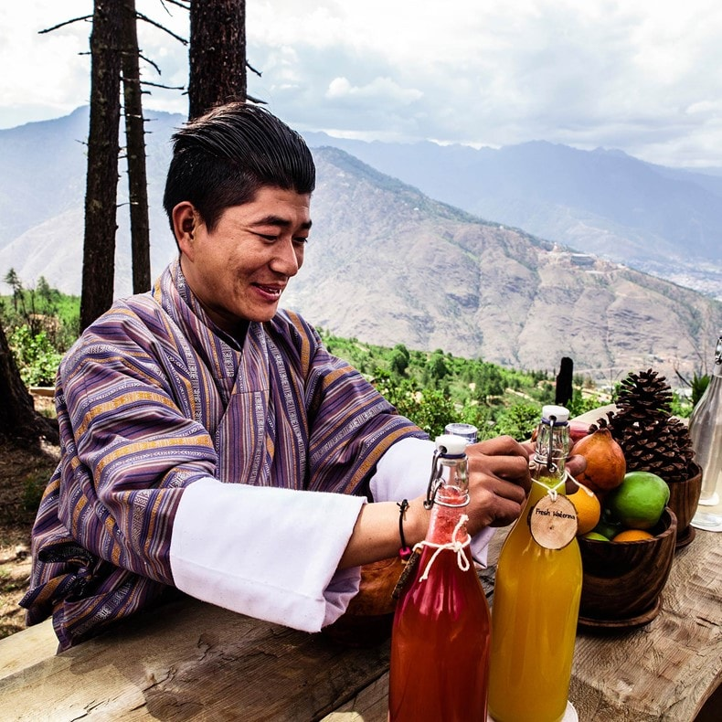 ​Breakfast at our Apple Shed and savor the enchanting sunrise in Thimphu